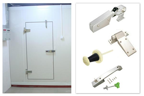 components of cold room hinged door