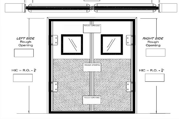 freezer room swing door diagram