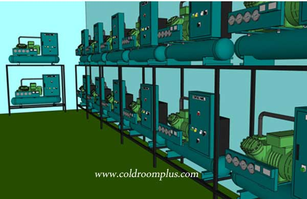 Freon cold room equipment cold storage