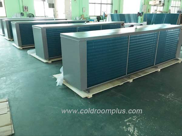 evaporator with blue fins